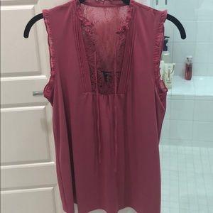 Express dark pink blouse